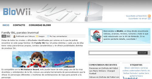 Blowii, tu blog sobre Wii
