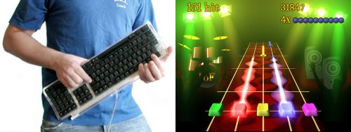 Frets On Fire, forma de jugar con el teclado