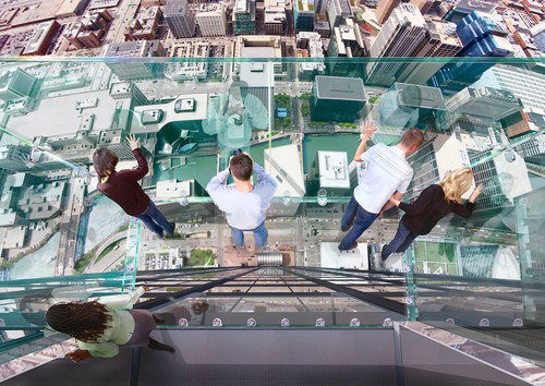 Sears Tower, The Ledge - Balcones de cristal