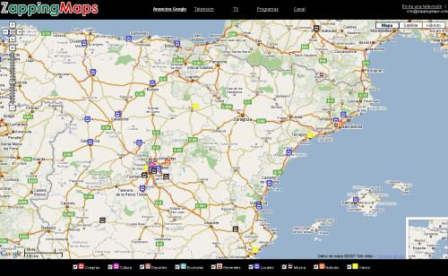 ZappingMaps. Ver televisión por internet desde un mapa mundi